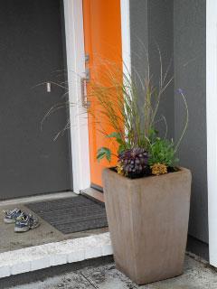 Orange door - modern container